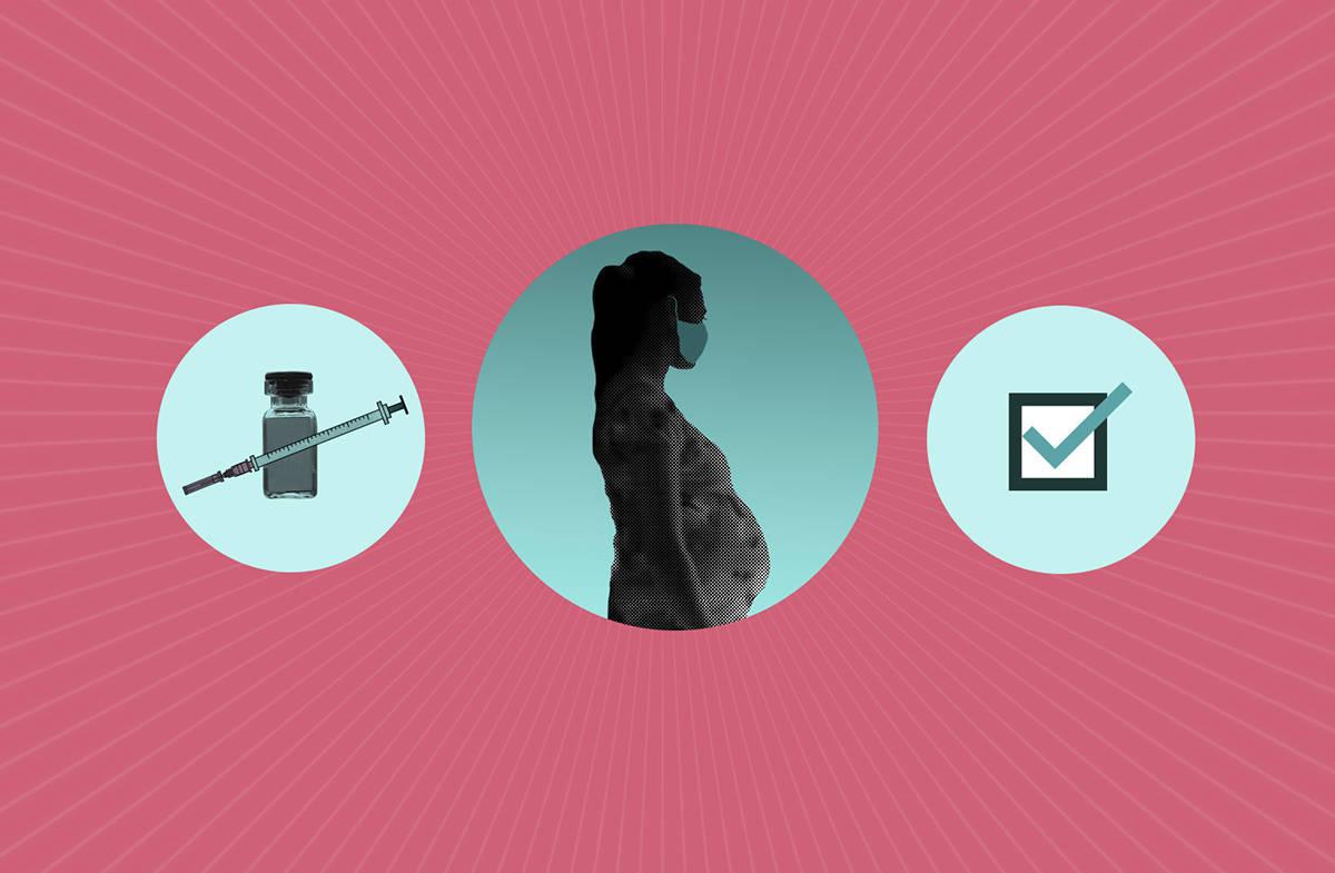 ¿Qué debo saber sobre las vacunas COVID-19 si estoy embarazada? [Ilustración Peter Hamlin / AP]