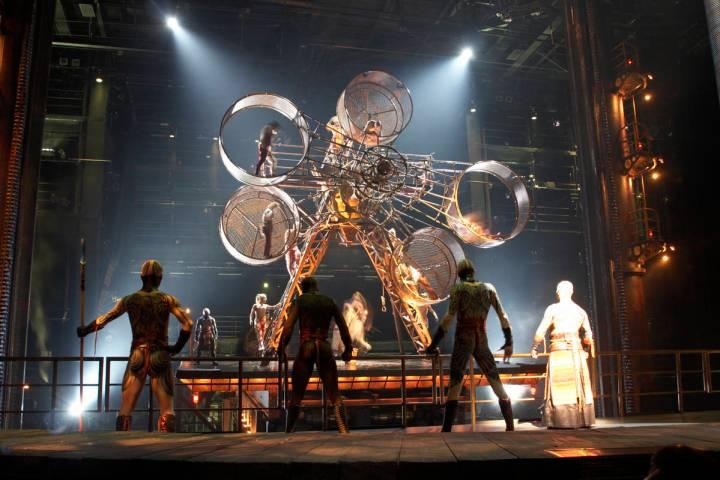 """Una escena del espectáculo """"Ka"""" del Cirque du Soleil en MGM Grand. (Cirque du Soleil)"""