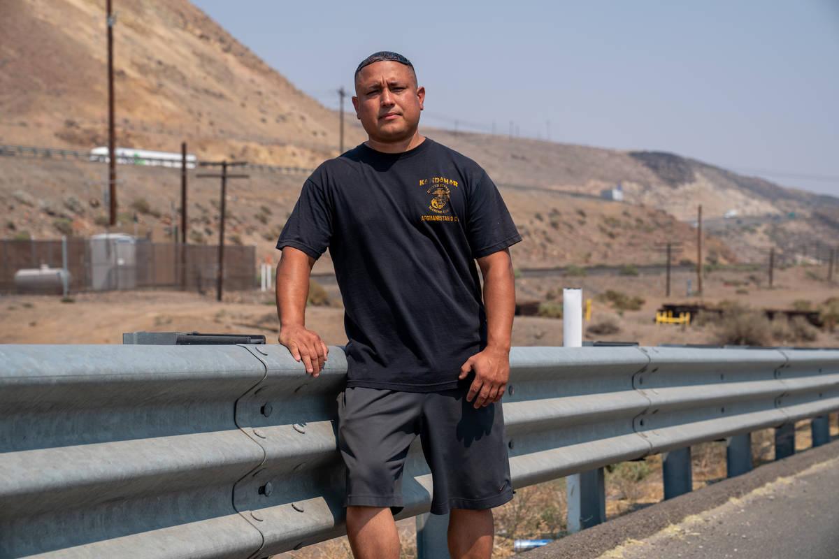 Stephen Lara, un marine retirado de 39 años, fue detenido en febrero por un agente de la Nevad ...