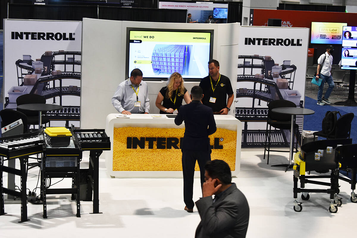 Interroll fue uno de los negocios presentes en la White Label World Expo 2021. Jueves 2 de sept ...