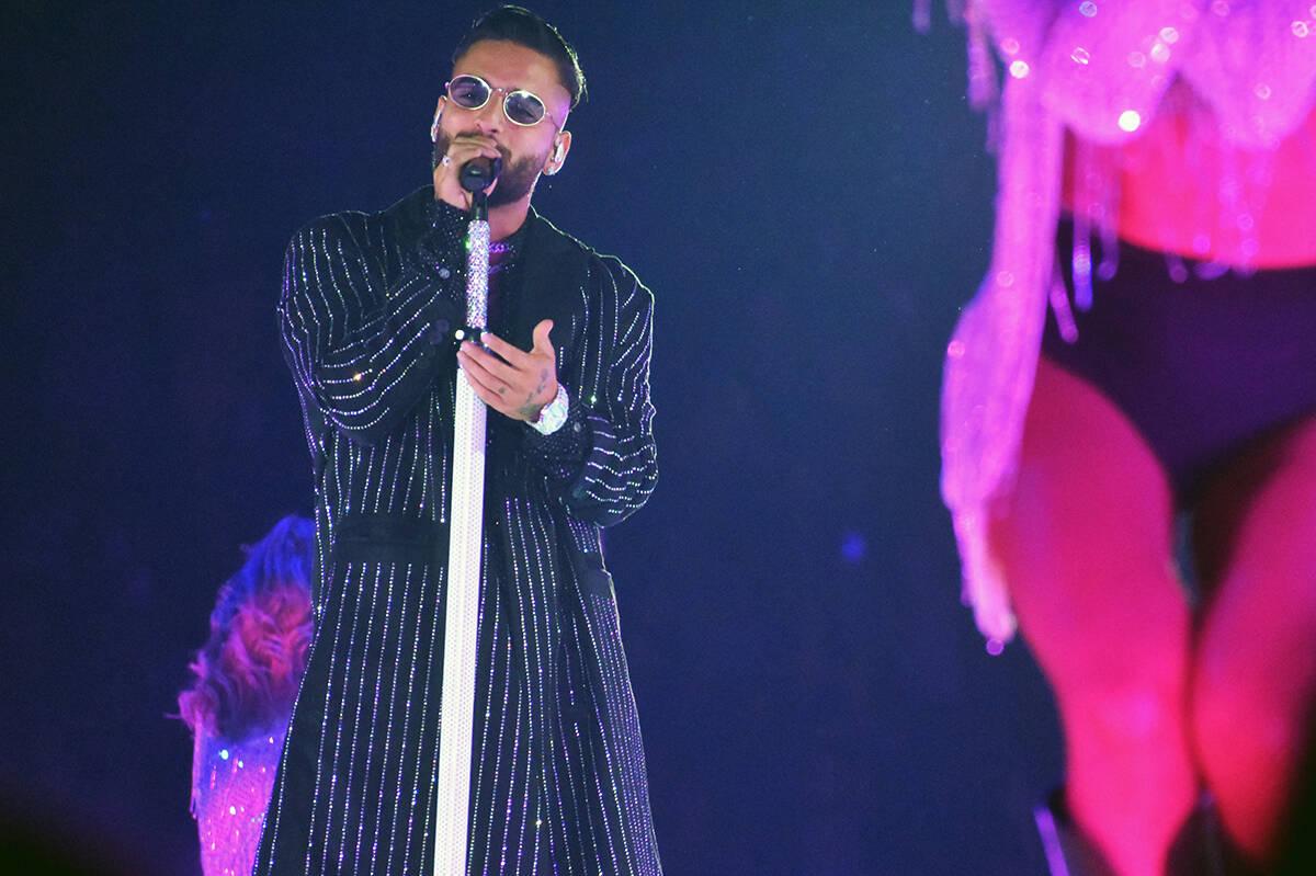 Con total energía, Maluma cantó la mayoría de sus temas más populares y bailó durante casi ...