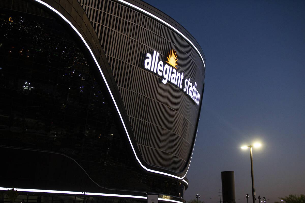 Vista exterior del Allegiant Stadium en Las Vegas el jueves 30 de julio de 2020. El estadio, se ...