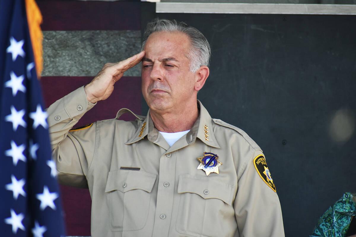 El alguacil Joe Lombardo participó en una ceremonia de homenaje a las víctimas del ataque ter ...
