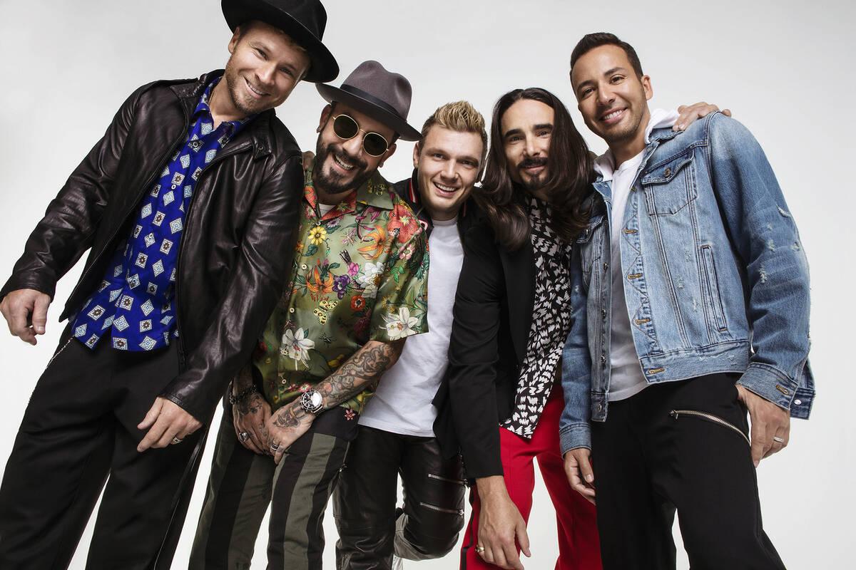 Backstreet Boys, de izquierda a derecha, Brian Littrell, AJ McLean, Nick Carter, Kevin Littrell ...