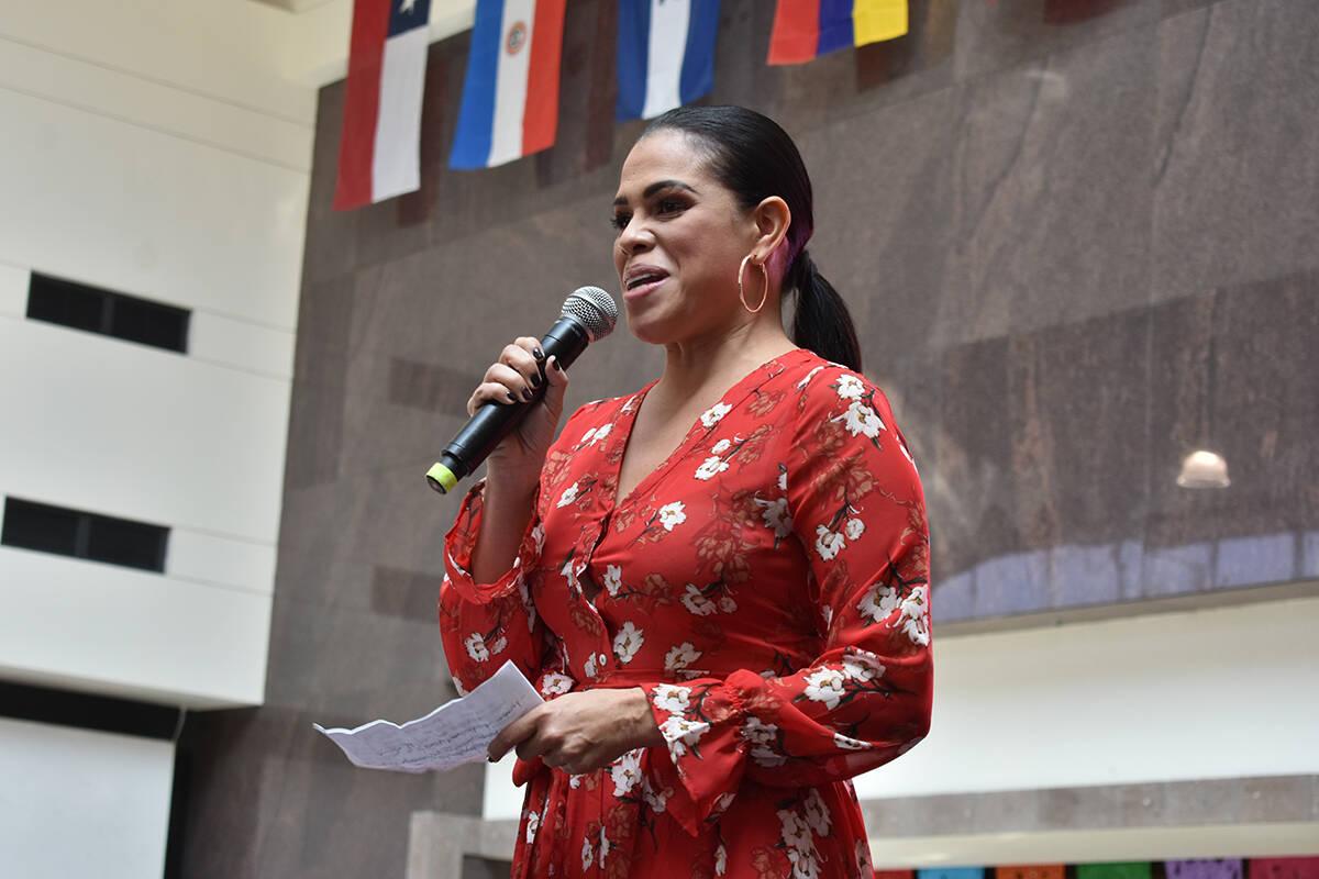 La comunicadora panameña, Rosario Grajales, fue la conductora del evento. Domingo 12 de septie ...