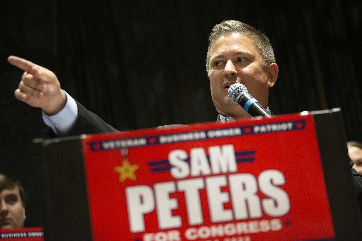 El republicano Sam Peters, que se postula como candidato al 4º Distrito del Congreso de Nevada ...
