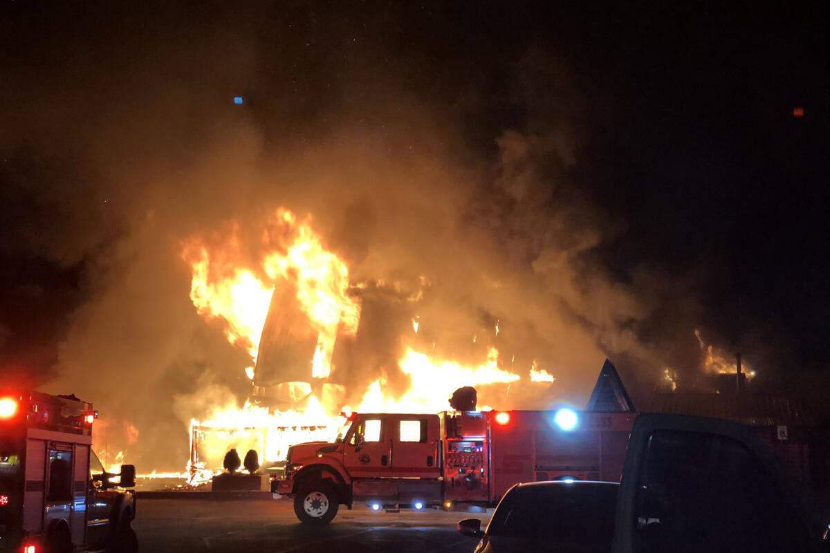 Un incendio causó daños en el Mount Charleston en la madrugada del viernes 17 de septiembre d ...