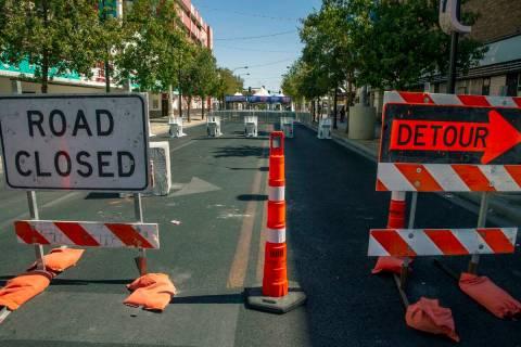 Cierres de carreteras para Life is Beautiful a lo largo de East Fremont Street el jueves 16 de ...