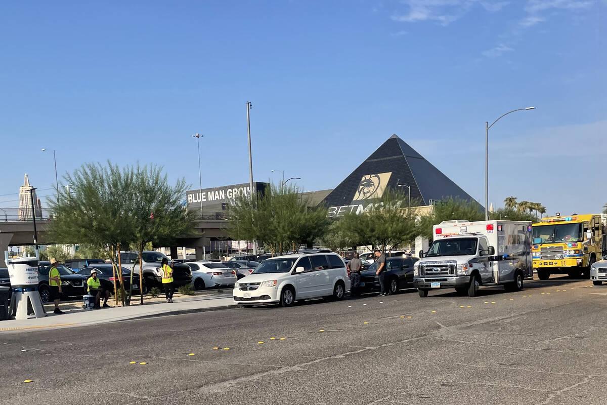 La policía de Las Vegas investiga un choque con fuga cerca del Allegiant Stadium el sábado 14 ...