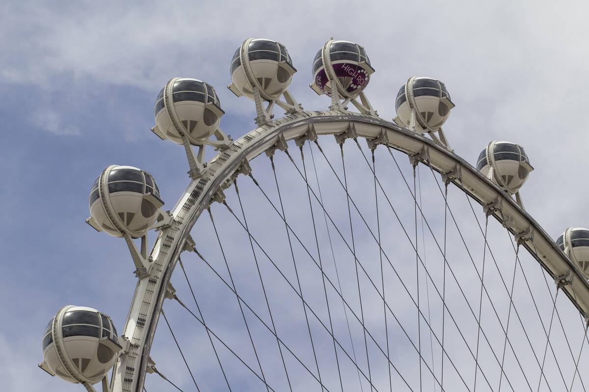 La rueda de observación High Roller en el LINQ Promenade de Las Vegas. (Las Vegas Review-Journal)