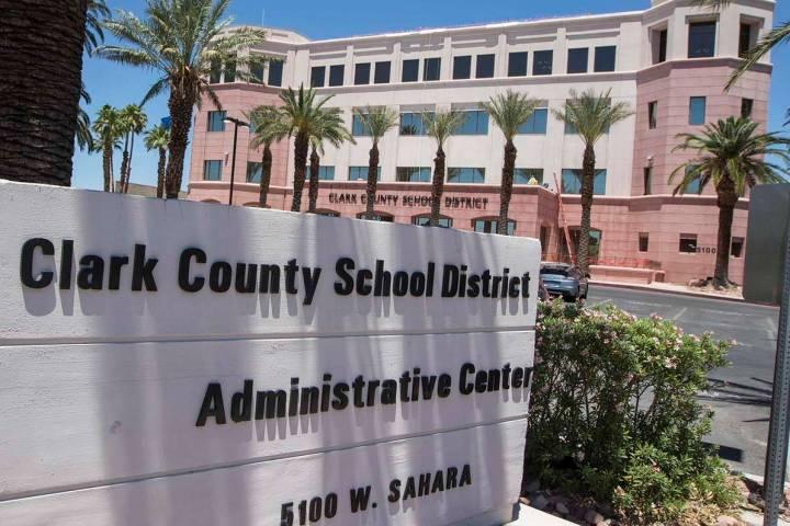 Edificio administrativo del Distrito Escolar del Condado Clark (Las Vegas Review-Journal).