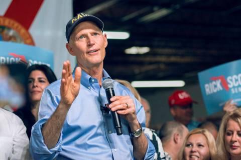 Fotografía de archivo del senador Rick Scott durante un evento. [Foto Cortesía, vía National ...