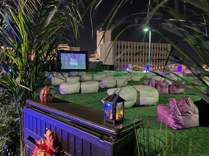 Hidden Cinema Rooftop Garden (foto de cortesía).