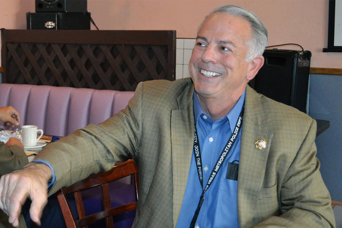El alguacil de LVMPD, Joe Lombardo, fue orador invitado a la sesión que Hispanic In Politics d ...