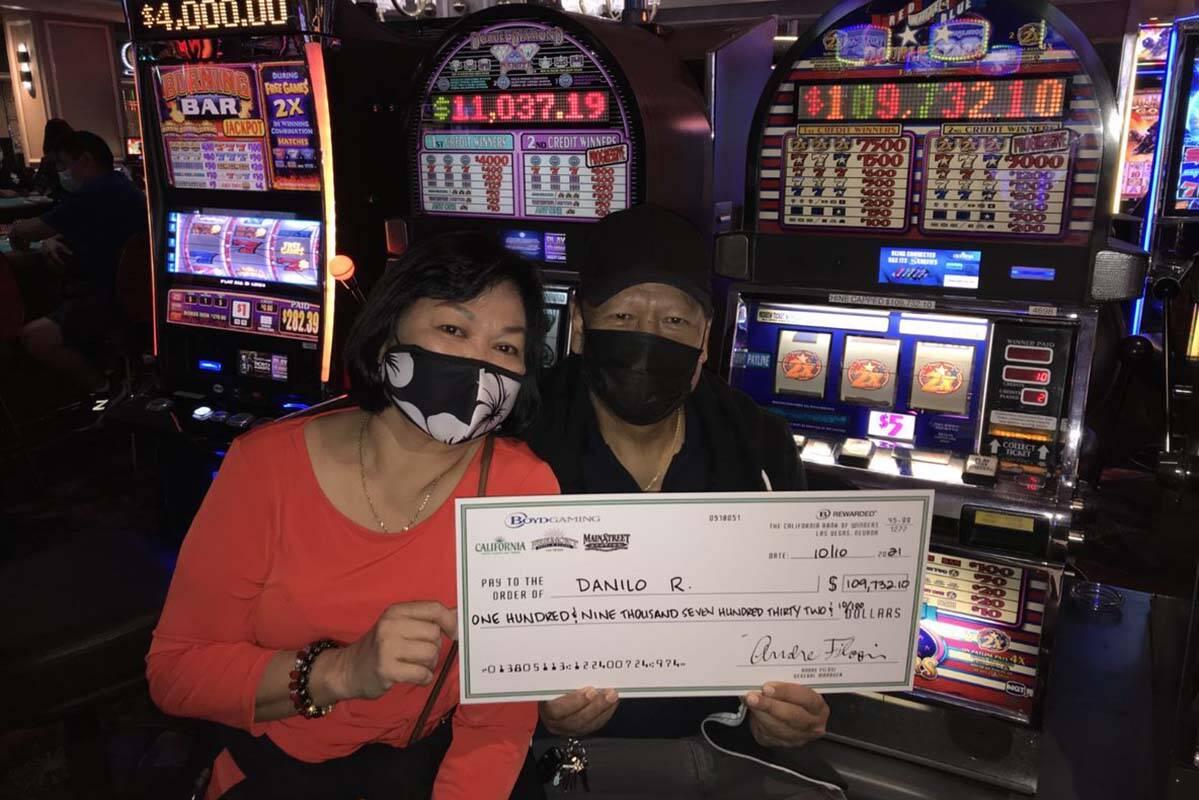 Danilo R. ganó un bote de 109,732 dólares en el Hotel California. (Boyd Gaming)